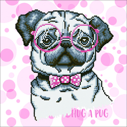 Diamond Dotz Hug A Pug - Needleart World