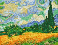Diamond Dotz Wheat Fields (Van Gogh) - Needleart World