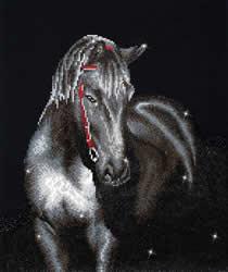 Diamond Dotz Midnight Stallion - Needleart World