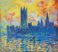 Diamond Dotz London Parliament in Winter (aprÞs Monet) - Needleart World
