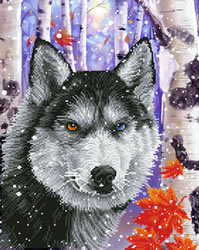 Diamond Dotz Forest Wolf - Needleart World