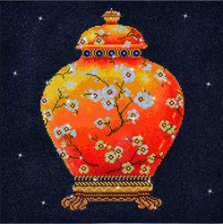 Diamond Dotz Red Vase - Needleart World