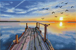 Diamond Dotz Sunset Jetty - Needleart World