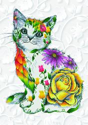 Diamond Dotz Flower Puss - Needleart World