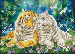 Diamond Dotz Tiger Smooch - Needleart World