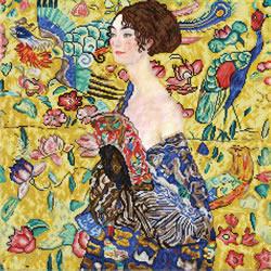 Diamond Dotz Lady with Fan (Klimt) - Needleart World