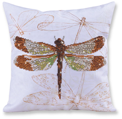 Diamond Dotz Kussen - Dragonfly Earth - Needleart World