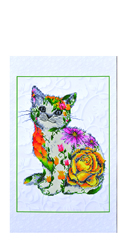 Diamond Dotz Flower Puss Scroll - Needleart World