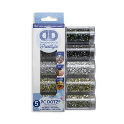 Diamond Dotz Dotz in Cilinders 5x 12 gr - Metallic - Needleart World