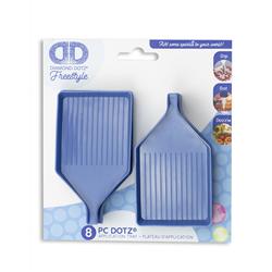 Diamond Dotz Blauwe sorteerbakjes met schenktuit - 8 stuks - Needleart World