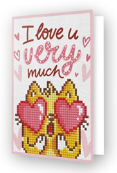 Diamond Dotz Greeting Card Love You - Needleart World