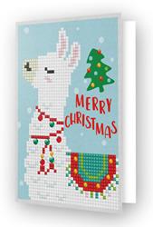 Diamond Dotz Greeting Card Merry Christmas Llama - Needleart World