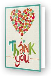Diamond Dotz Greeting Card Thank You Heart - Needleart World