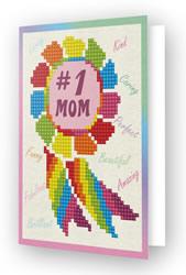Diamond Dotz Greeting Card Number 1 Mom - Needleart World
