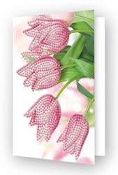Diamond Dotz Greeting Card Romantic Tulips - Needleart World