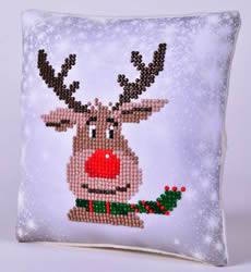 Diamond Dotz Christmas Reindeer Kussentje - Needleart World