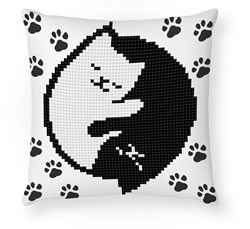 Diamond Dotz Kitty Glow Mini Pillow - Needleart World