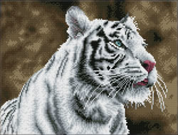 Diamond Dotz Tiger Blanc - Needleart World