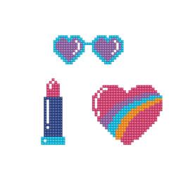 Diamond Dotz Dotzies 3 Stickers Multi Pack - Cool - Needleart World