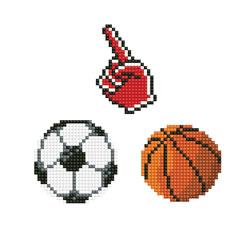 Diamond Dotz Dotzies 3 Stickers Multi Pack - Fan - Needleart World