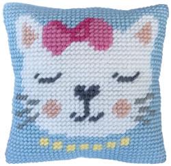 Kussen borduurpakket Kitten Purr - Needleart World