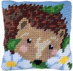 Kussen borduurpakket Daisy Hedgehog - Needleart World
