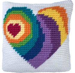 Kussen borduurpakket Wishing Heart - Needleart World