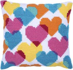 Kussen borduurpakket Heart Collage - Needleart World