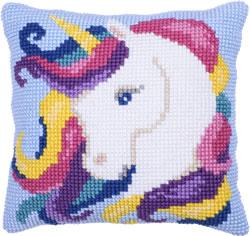 Kussen borduurpakket Unicorn - Needleart World
