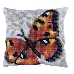 Kussen borduurpakket Umber Butterfly - Needleart World