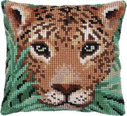Kussen borduurpakket Leopard watch - Needleart World