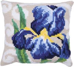 Kussen borduurpakket Blue Iris - Needleart World