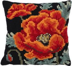 Kussen borduurpakket Poppy Bloom - Needleart World