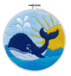 Platsteek borduurpakket Whale Song - Needleart World