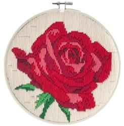 Platsteek borduurpakket Rose Rouge - Needleart World