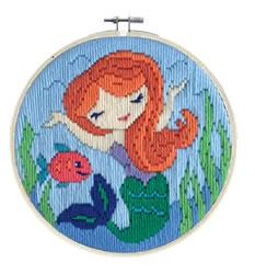 Platsteek borduurpakket Mermaid Song - Needleart World