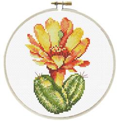 Voorbedrukt borduurpakket Yellow Cactus - Needleart World