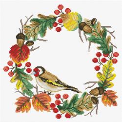 Voorbedrukt borduurpakket Autumn Wreath - Needleart World