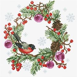 Voorbedrukt borduurpakket Winter Wreath - Needleart World