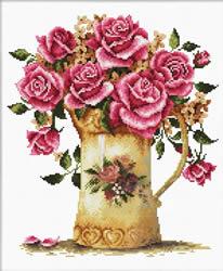 Voorbedrukt borduurpakket Antique Flower Vase - Needleart World