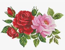Voorbedrukt borduurpakket Rose Bouquet - Needleart World