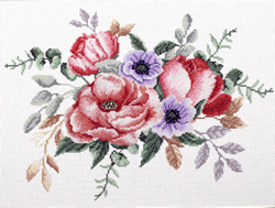 Voorbedrukt borduurpakket Elegant Bouquet - Needleart World