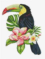 Voorbedrukt borduurpakket Toucan look out - Needleart World