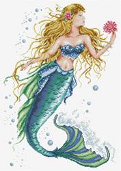 Voorbedrukt borduurpakket Mermaid Wish - Needleart World