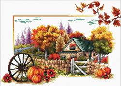 Voorbedrukt borduurpakket Autumn Farm - Needleart World