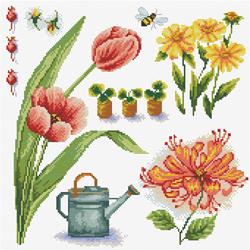 Voorbedrukt borduurpakket Garden Sampler 1 - Needleart World