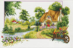 Voorbedrukt borduurpakket Summer Cottage - Needleart World