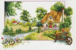 Voorbedrukt borduurpakket Summer Cottage - Needleart World