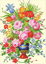 Voorbedrukt borduurpakket Elegant Floral Arrangement - Needleart World