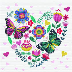 Pre-printed cross stitch kit Love Garden - Needleart World